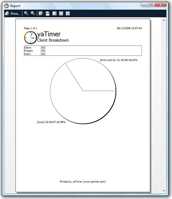 Time Tracking Software, yaTimer Screenshot