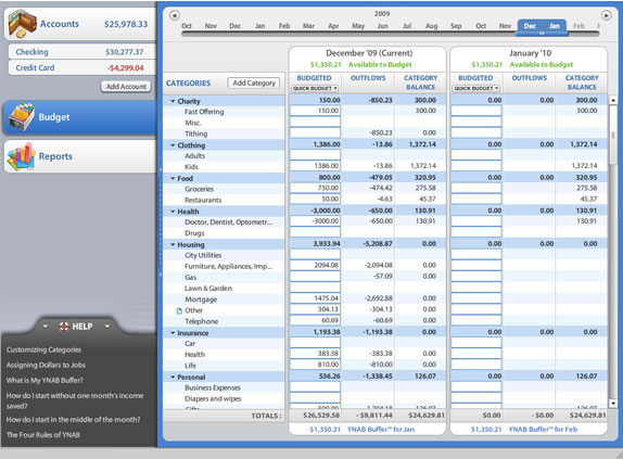 YNAB 3 (You Need A Budget 3), Business & Finance Software Screenshot