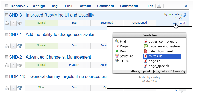 YouTrack Screenshot