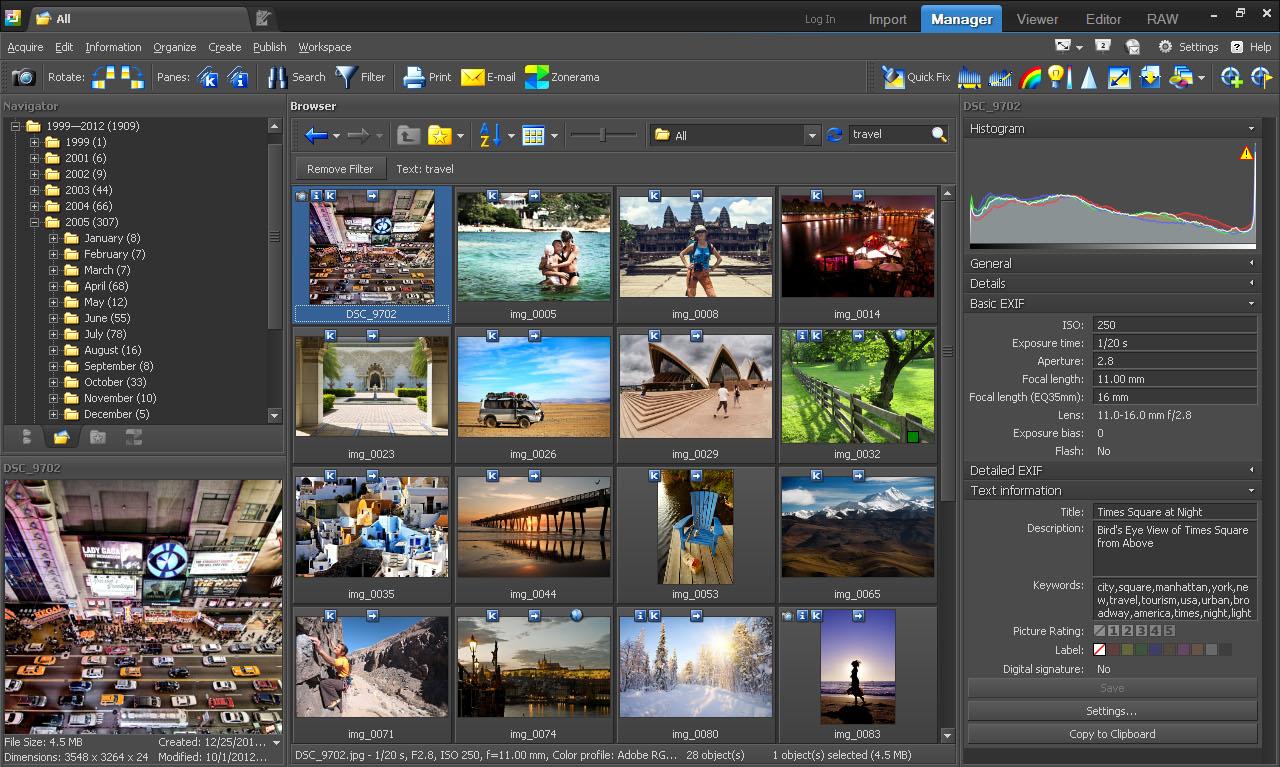 Zoner Photo Studio 15 Home Screenshot