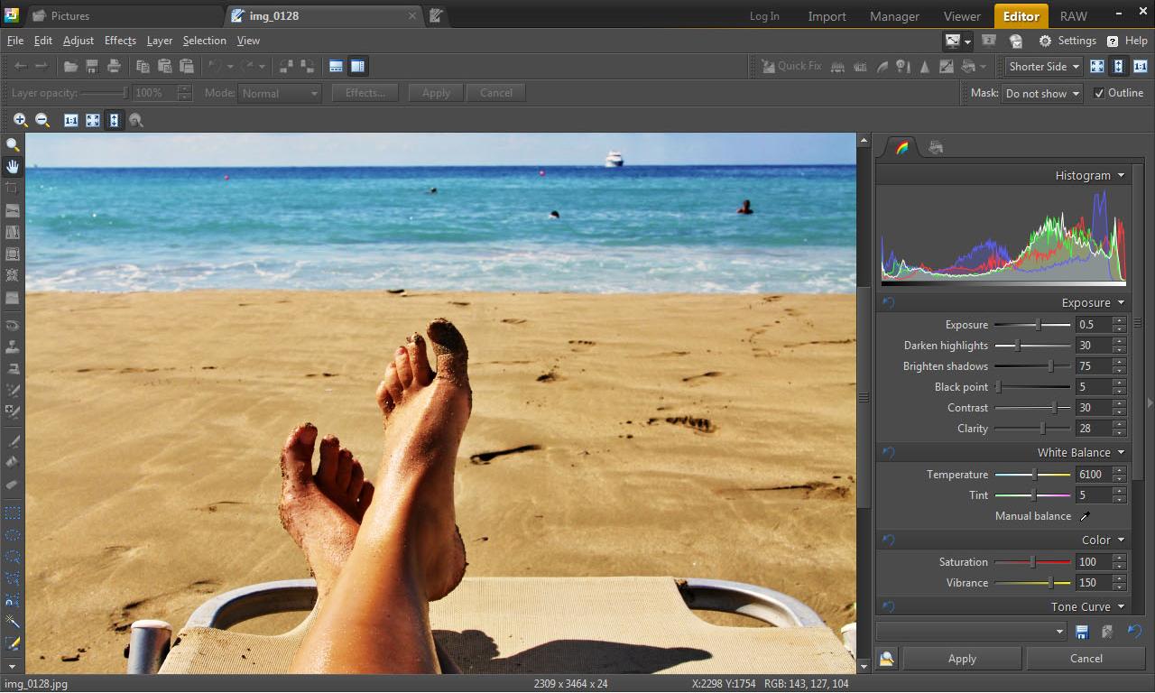Zoner Photo Studio 15 Home, Design, Photo & Graphics Software Screenshot