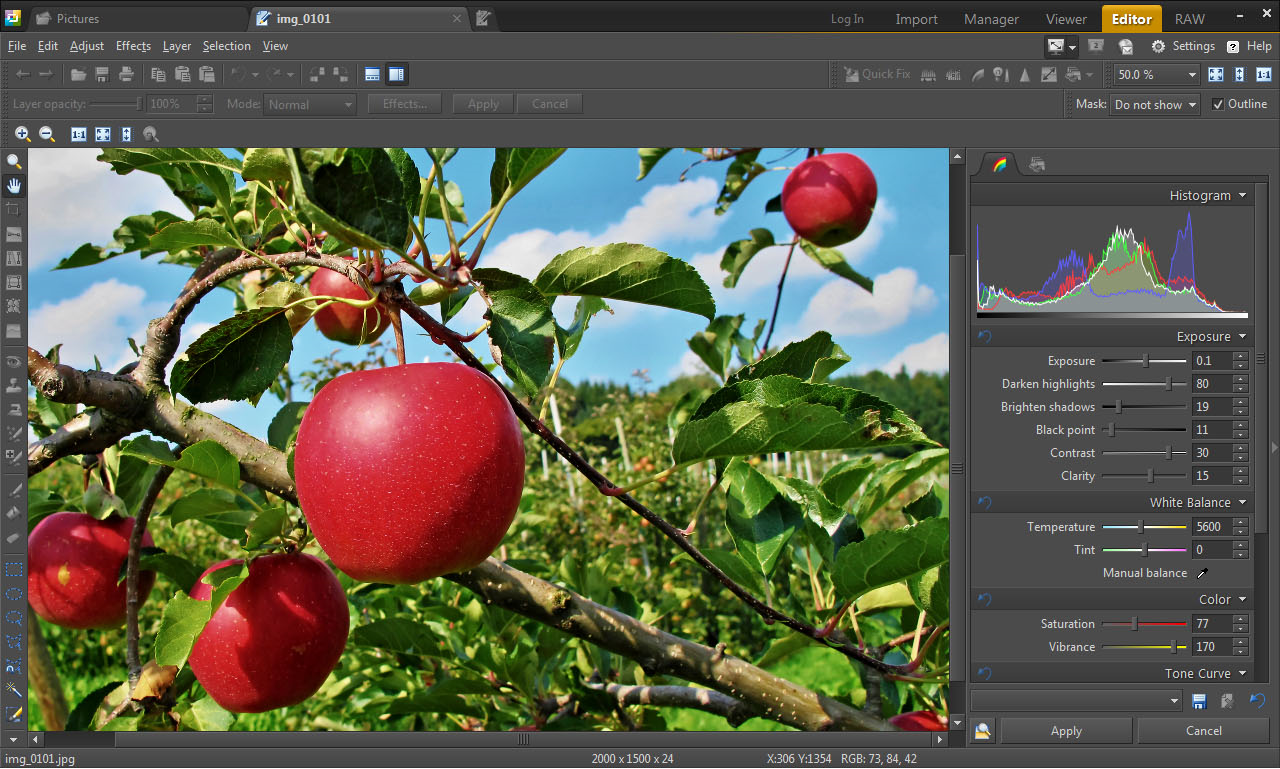 Zoner Photo Studio 15 Home, Image Viewer Software Screenshot