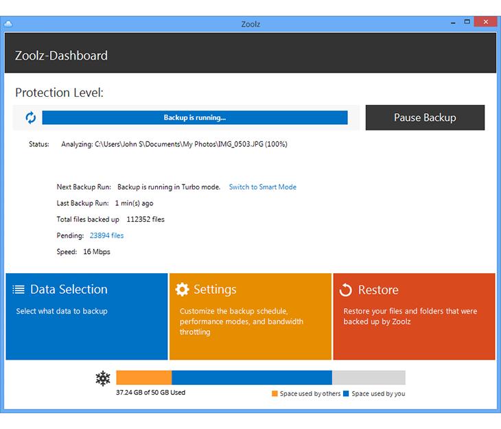 Backup Cloud Software Screenshot