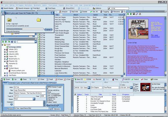 Zortam Mp3 Media Studio Pro, Audio Software Screenshot